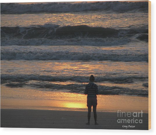 Morning Has Broken Wood Print by Greg Patzer