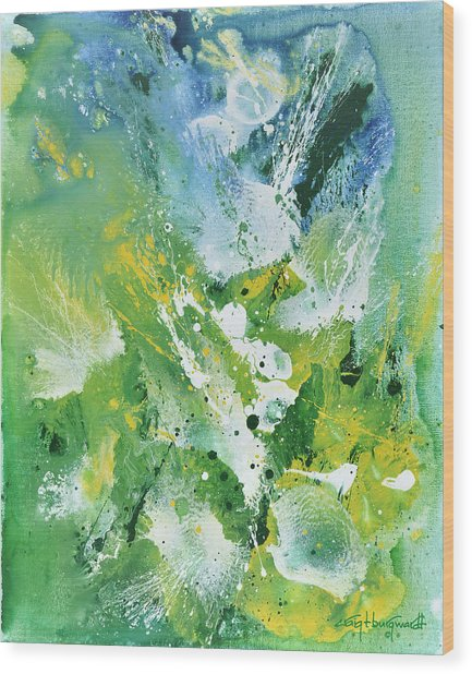 Morning Hillside Wood Print