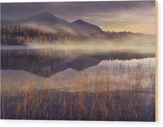Morning In Adirondacks Wood Print