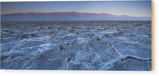 Morning In Death Valley Wood Print