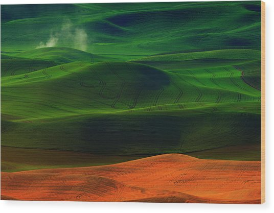 Morning In Palouse Wood Print