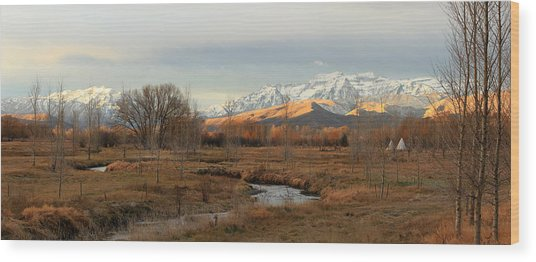 Morning In The Wasatch Back. Wood Print