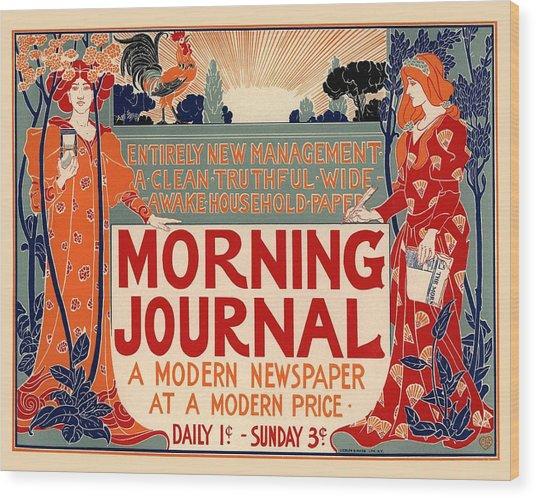 Morning Journal Wood Print