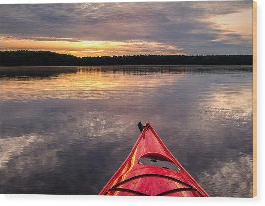 Morning Kayak Wood Print