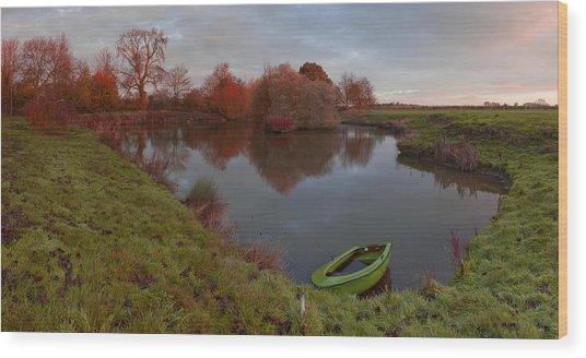 Morning Light Lenton Fishing Pond Wood Print