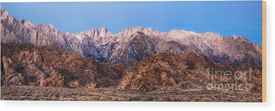 Morning Light Mount Whitney Wood Print
