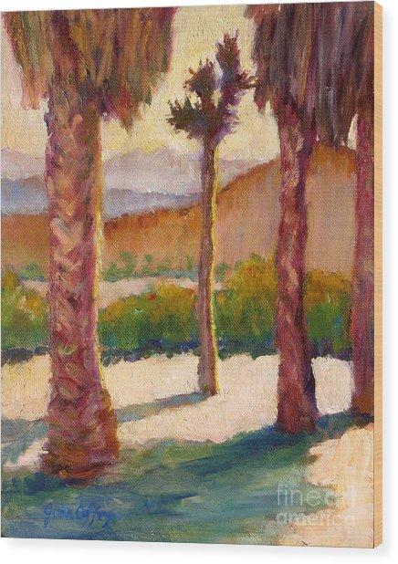 Morning Light On Joshua Tree Wood Print