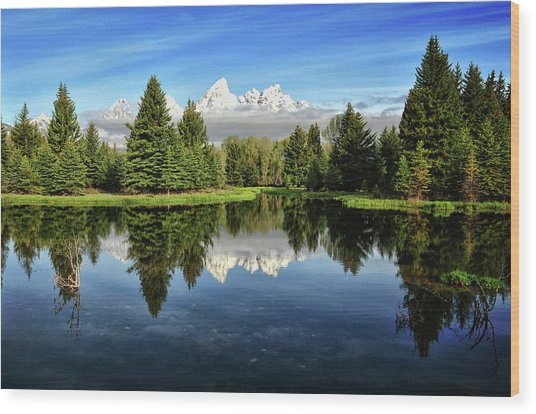 Morning Magic At Schwabacher Wood Print by Jeff R Clow