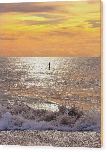 Sunrise Solitude Wood Print