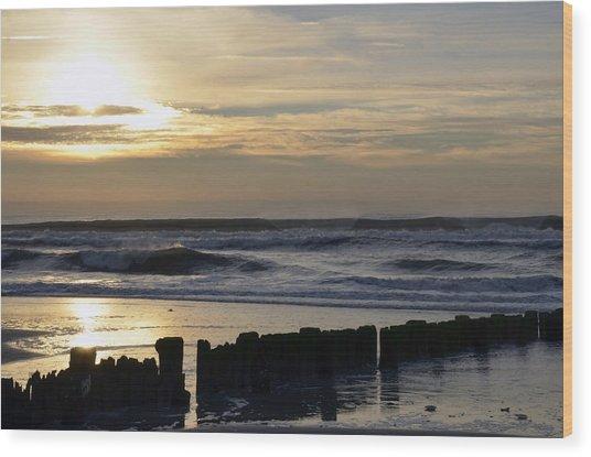 Morning Ocean Rockaway Beach 3 Wood Print