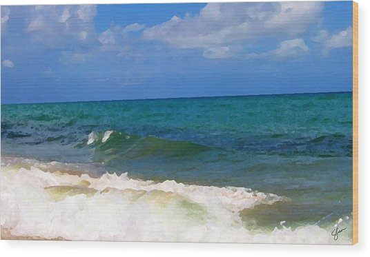 Morning On Boynton Beach 2 Wood Print by Shawn Lyte