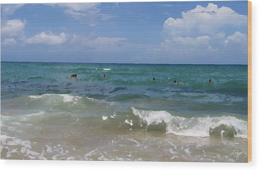 Morning On Boynton Beach 3 Wood Print by Shawn Lyte