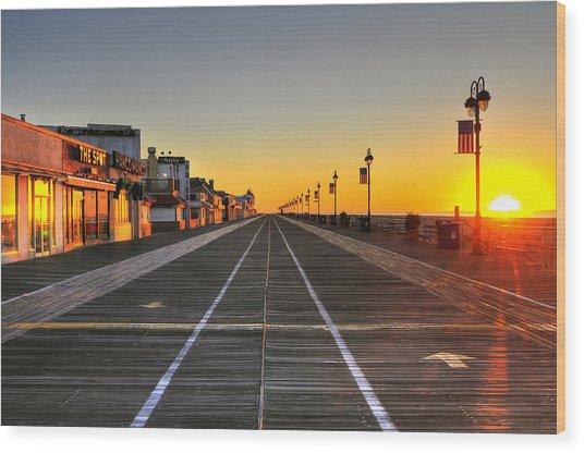 Morning On The Boardwalk 2 Wood Print