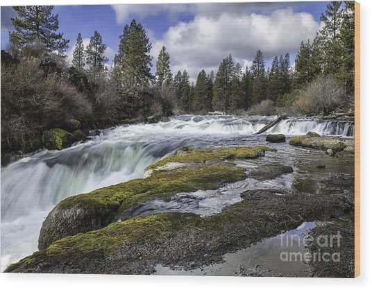 Morning On The Deschutes Wood Print