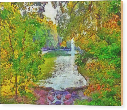 Mirror Lake. The Ohio State University Wood Print