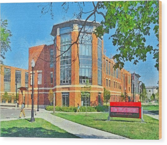 Student Union. The Ohio State University Wood Print