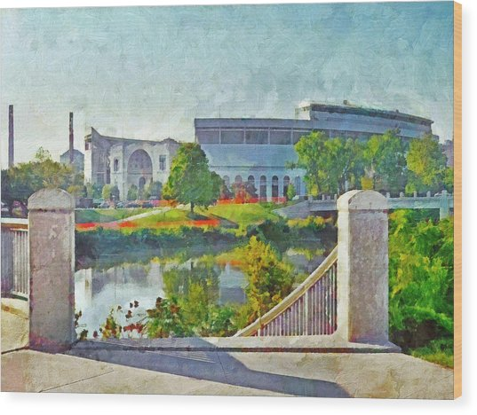 The Horseshoe By Morning Light. The Ohio State University Wood Print