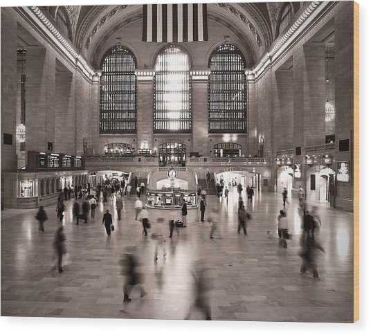 Morning Rush - Grand Central Terminal Wood Print