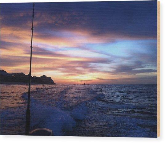 Morning Skies Wood Print