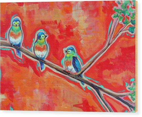 Morning Song Wood Print by Dawn Gray Moraga