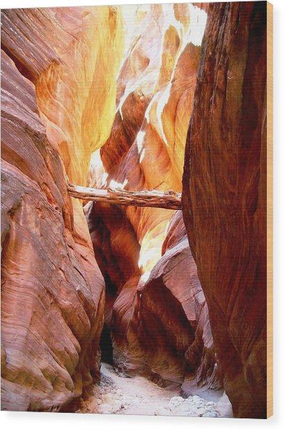 Morning Sun In Buckskin Gulch Wood Print