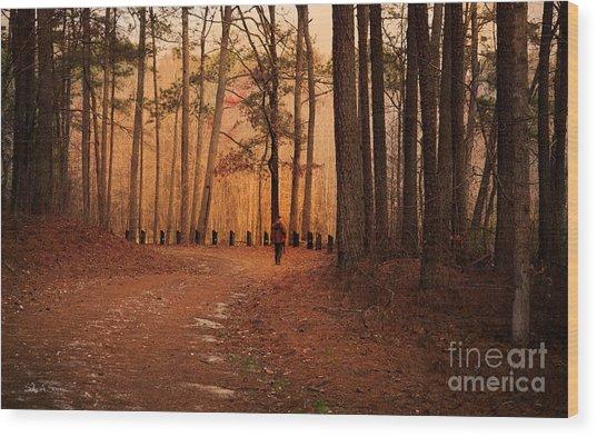 Morning Walk Wood Print