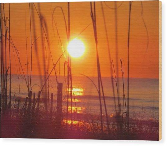 Morning's Beach Wood Print