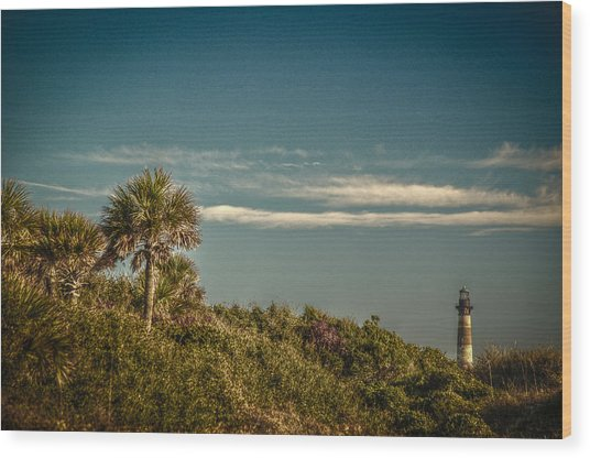 Morris Island Light Charleston Sc Wood Print