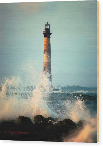 Morris Island Lighthouse Wood Print