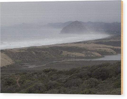 Morro Bay - Morro Rock 1 Wood Print