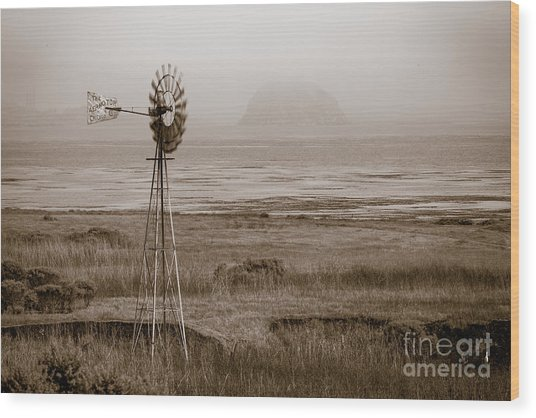 Morro Bay Windmill Wood Print