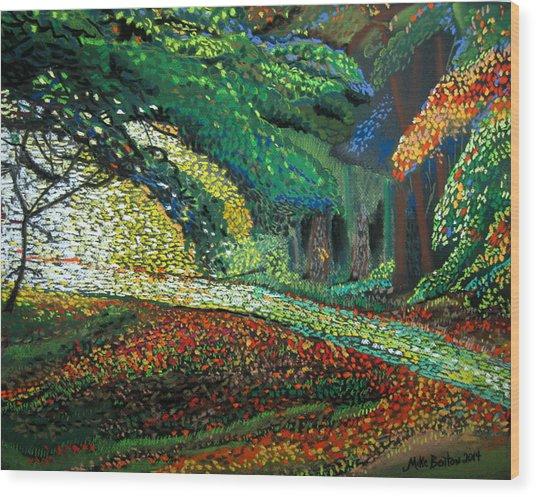 Mosaic Nature Walk Wood Print