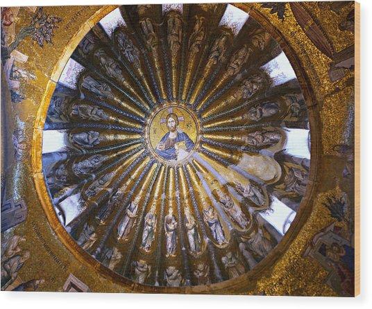 Mosaic Of Christ Pantocrator Wood Print