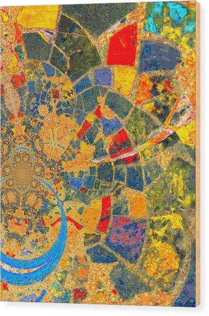 Mosaik Wood Print by Nico Bielow