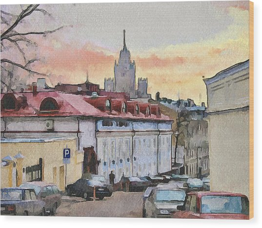 Moscow Old Streets 1 Wood Print by Yury Malkov