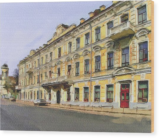 Moscow Old Streets 2 Wood Print by Yury Malkov