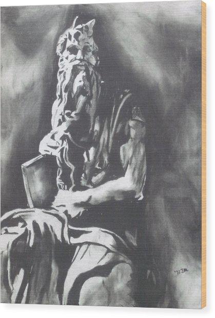 Moses Wood Print by Jeremy Moore