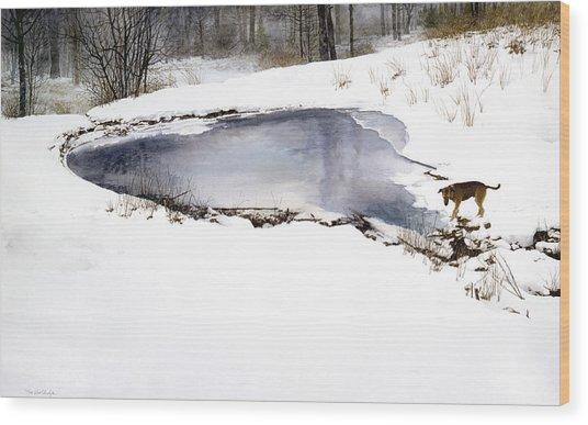 Moses On Ice Wood Print