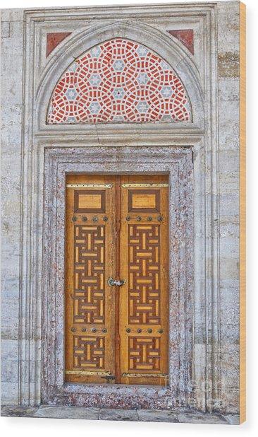 Mosque Doors 04 Wood Print