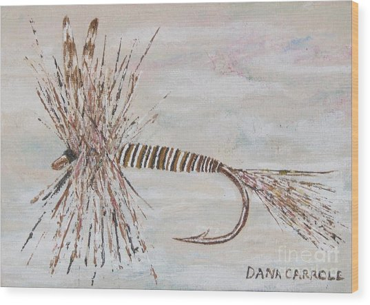 Mosquito Dry Fly Wood Print by Dana Carroll
