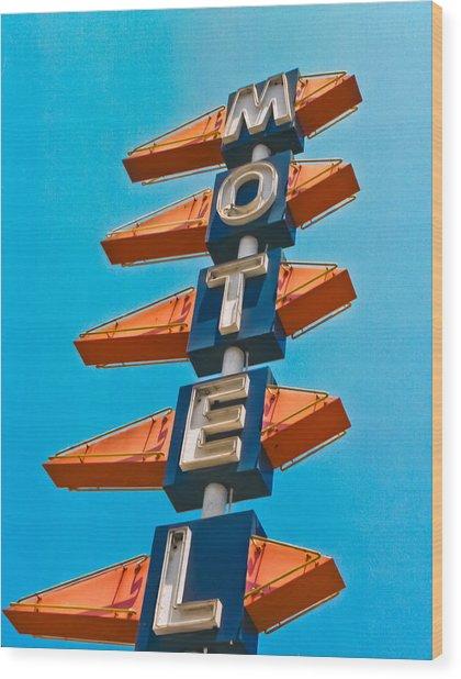 Motel Large Wood Print