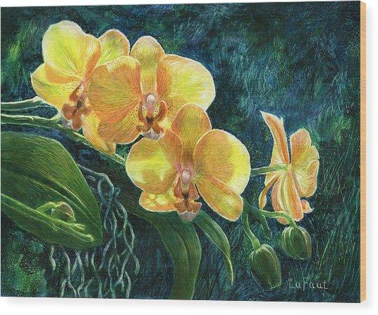 Moth Orchids Wood Print