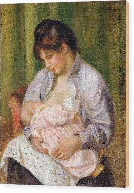 Mother And Child Wood Print