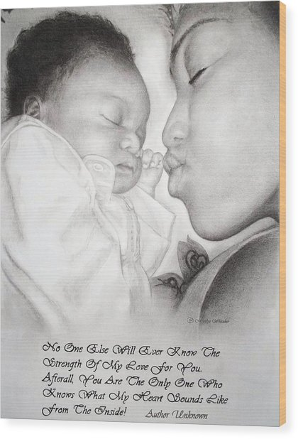 Mother And Child Wood Print by Melodye Whitaker
