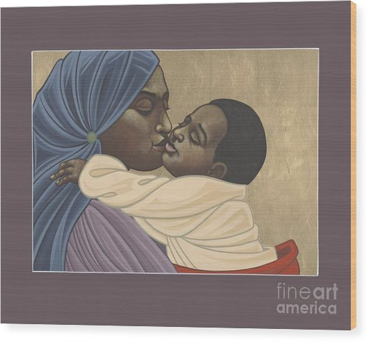 Mother And Child Of Kibeho 211 Wood Print