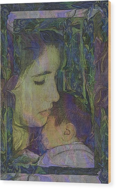 Mother Love Of Father Heart Wood Print