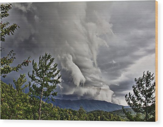 Mother Nature Showing Off V2 Wood Print