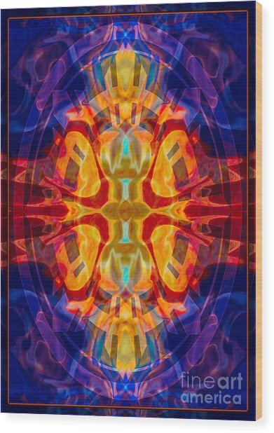 Mother Of Eternity Abstract Living Artwork Wood Print