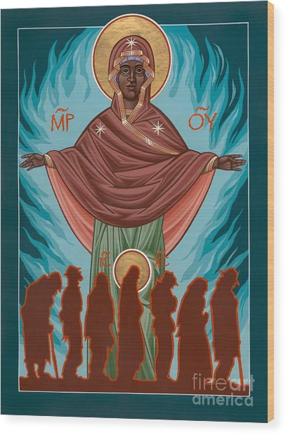 Mother Of Sacred Activism With Eichenberg's Christ Of The Breadline Wood Print