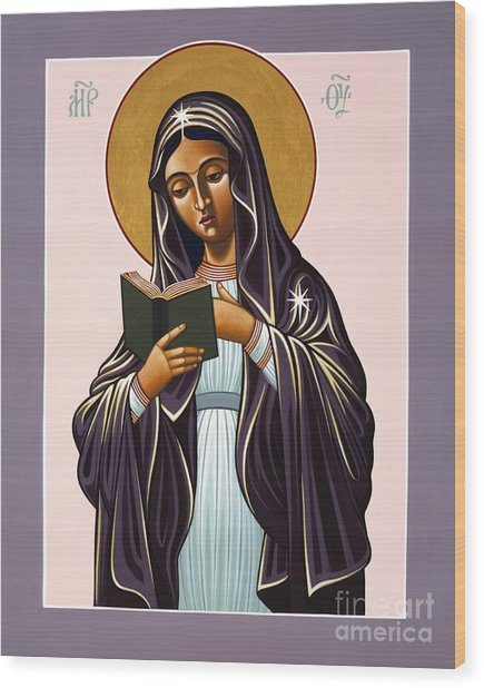 Mother Of The Incarnate Word 071 Wood Print